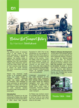 Malawi Rail Transport History